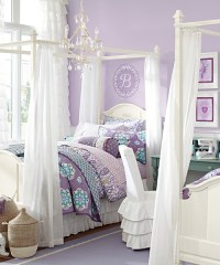 Girls Canopy Bed - Madeline Canopy Bed Frame