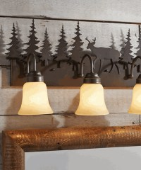 Log Cabin Bathroom Lights