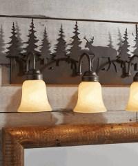 Log Cabin Bathroom Lights