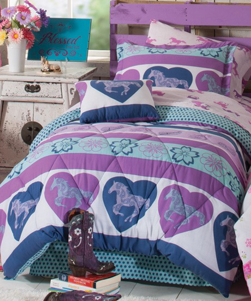 Purple Pony Bedding