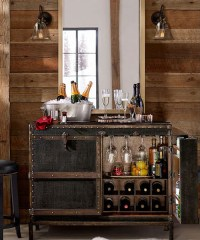 Rustic Trunk Bar Cabinet - Rustic Bar Furniture