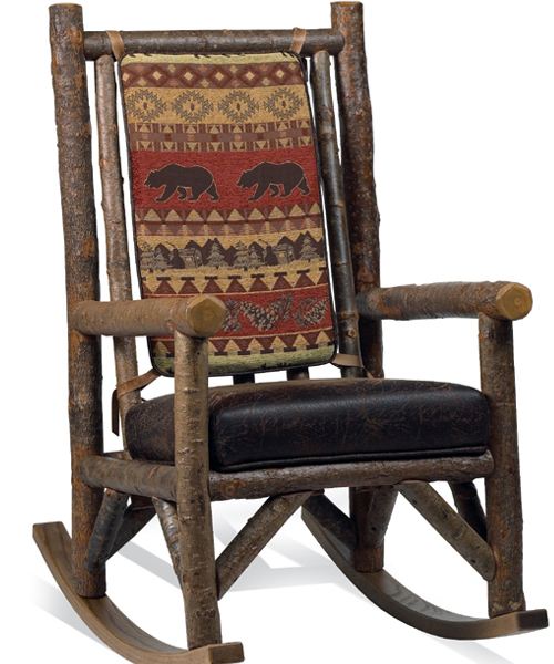 Bear Creek Rocking Chair  Canadian Log Homes