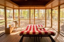 Tiny Log Cabin with Screened in Porch