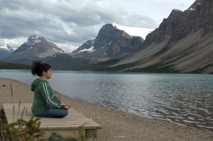 Find peace and quiet on Bow Lake.