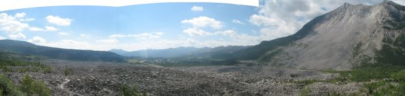 Frank slide in crowsnest pass alberta