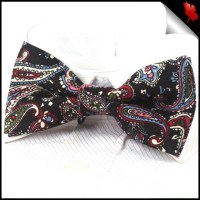 Black Paisley Bow Tie- Canadian Ties
