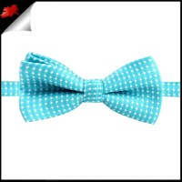 Boys Turquoise with White Polkadots Bow Tie- Canadian Ties