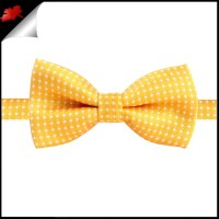 Boys Gold Yellow with White Polka Dots Bow Tie- Canadian Ties