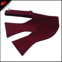 Burgundy Red Self Tie Bow Tie- Canadian Ties