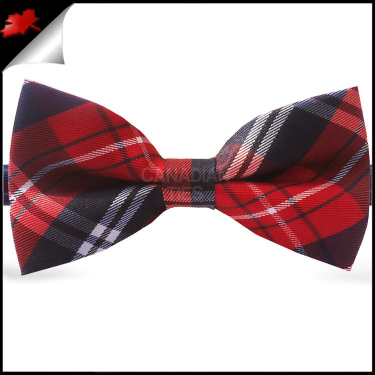 Black Plaid Bow Ties