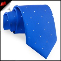Royal Blue Polka Dot Mens Tie- Canadian Ties