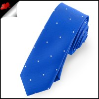 Royal Blue Pin Dot Mens Skinny Necktie- Canadian Ties