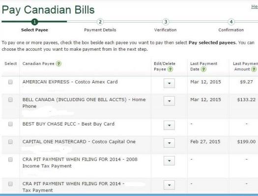 TD Bill Payment