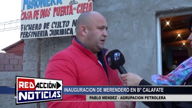 Photo of Redacción Noticias |  PABLO MENDEZ – AGRUPACION PETROLERA – INAUGURACION DE MERENDERO – LAS HERAS SANTA CRUZ