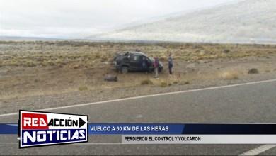 Photo of Redacción Noticias |  VUELCO A 50KM – LAS HERAS SANTA CRUZ