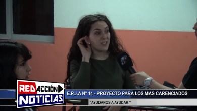 Photo of Redacción Noticias |  LAS HERAS SANTA CRUZ PROYECTO «AYUDANOS A AYUDAR» POR PARTE DE LA E.P.J.A N° 14