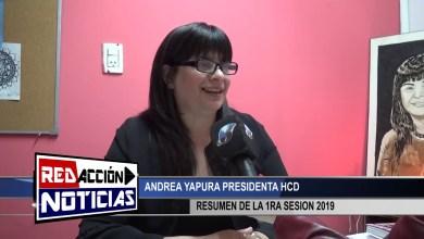 Photo of Redacción Noticias |  RESUMEN Y PUNTOS TRATADOS EN LA 1RA SESION 2019 – ANDREA YAPURA