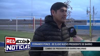 Photo of Redacción Noticias |  NUEVO PRESIDENTE DE BARRIO – LAS HERAS SANTA CRUZ