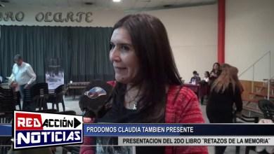 Photo of Redacción Noticias |  CLAUDIA PRODOMOS PRESENTE TAMBIEN EN LA EXPOSICION DEL 2DO LIBRO RETAZOS DE UNA MEMORIA