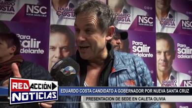 Photo of Redacción Noticias |  EDUARDO COSTA CANDIDATO A GOBERNADOR – PRESENTACION DE LA NUEVA SEDE