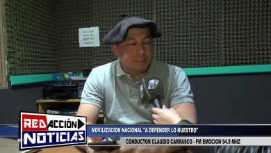 Photo of Redacción Noticias |  CONDUCTOR DE FM EMOCION 94.9 MHZ CLAUDIO CARRASCO – MOVILIZACION  NACIONAL