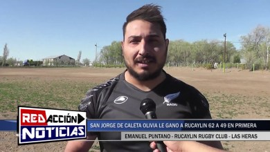 Photo of Redacción Noticias |  RUCAYLIN NO PUDO CON SAN JORGE DE CALETA OLIVIA (49 – 62) EN LAS HERAS SANTA CRUZ