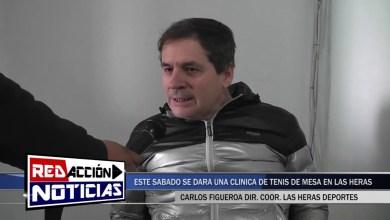 Photo of Redacción Noticias |  ESTE SÁBADO 2 DE NOVIEMBRE CLÍNICA DE TENIS DE MESA – LAS HERAS SANTA CRUZ