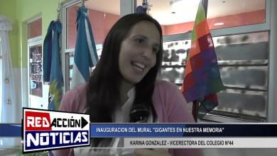 Photo of Redacción Noticias    KARINA GONZALES – VICERECTORA DEL COLEG. N°44 INAUGURACION DE MURAL – LAS HERAS SANTA CRUZ