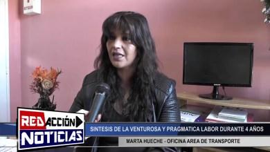 Photo of Redacción Noticias |  MARTA HUECHE AREA DE TRANSPORTE TRABAJO REALIZADO DURANTE 4 AÑOS – (PARTE 1) – LAS HERAS SANTA CRUZ