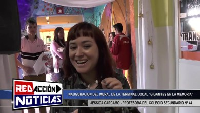 Photo of Redacción Noticias |  JESSICA CARCAMO PROFESORA COLEGIO N° 44 – INAUGURACION MURAL LAS HERAS SANTA CRUZ