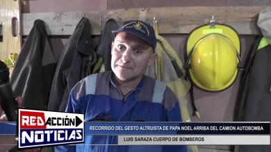 Photo of Redacción Noticias |  LUIS SARAZA CUERPO DE BOMBEROS-PAPA NOEL EN EL CAMION AUTOBOMBA POR BARRIOS DE LAS HERAS SANTA CRUZ