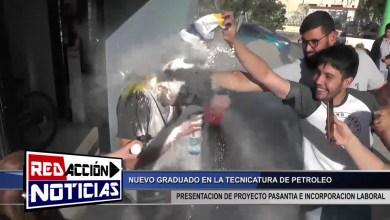 Photo of Redacción Noticias |  MAXI EGRESADO DE LA TECNICATURA DE PETROLEO – LAS HERAS SANTA CRUZ