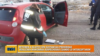 Photo of Redacción Noticias |  Policiales: Detienen a sujeto con estupefacientes cuando realizaba maniobras sospechosas