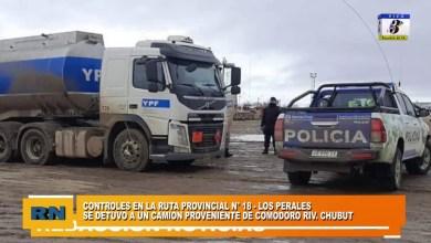 Photo of Redacción Noticias    Detienen a camión proveniente de Comodoro – Chubut en controles de Ruta N° 18 (Los Perales)