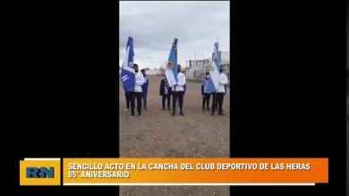 Photo of Redacción Noticias |  Se realizo un sencillo acto en la cancha del Deportivo por el 85° Aniversario del Club