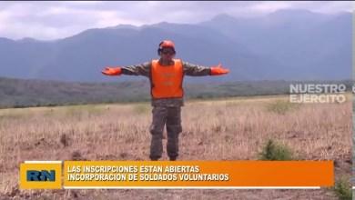 Photo of Redacción Noticias |  Ejercito argentino: están abiertas las inscripciones para la incorporación de soldados voluntarios