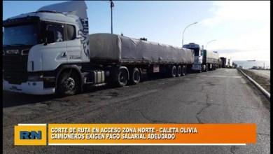 Photo of Redacción Noticias |  Corte de ruta en acceso a Zona Norte (Caleta Olivia) – Camioneros exigen pagos salariales