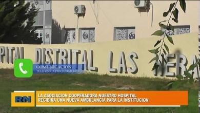 Photo of Redacción Noticias    La asoc. Cooperadora Nuestro Hospital de Las Heras recibió una nueva ambulancia para la institución