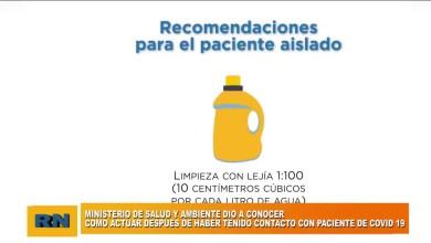 Photo of Redacción Noticias |  Dieron a conocer como actuar después de haber tenido contacto con un paciente de Covid-19