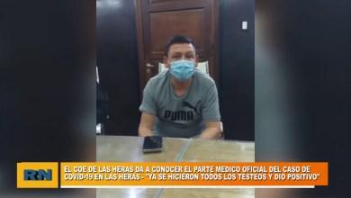 Photo of Redacción Noticias |  El COE de Las Heras dan el parte medico oficial en cuanto al primer caso del Covid-19 de la ciudad