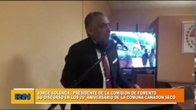 Photo of Redacción Noticias |  20° ANIVERSARIO DE LA COMUNA – PARTE DEL DISCURSO DE JORGE SOLOAGA DISCURSO –  CAÑADON SECO
