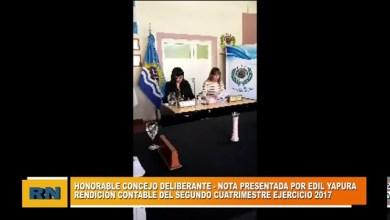 Photo of Redacción Noticias |  HCD pidió la rendición contable del segundo cuatrimestre del año 2017 al Ejecutivo Municipal