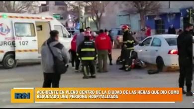 Photo of Redacción Noticias |  Accidente en pleno centro de la ciudad de Las Heras – Hubo una persona hospitalizada