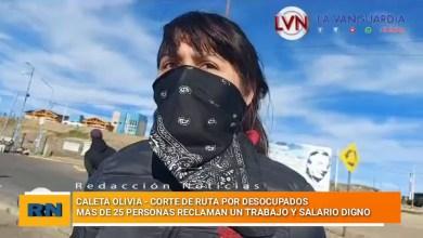 Photo of Redacción Noticias |  Corte de ruta en Caleta Olivia debido al reclamo y protesta de personas desocupadas
