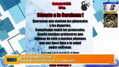 Photo of Redacción Noticias    Se realizara una caravana en reclamo a  la reapertura de gimnasios y la vuelta del deporte