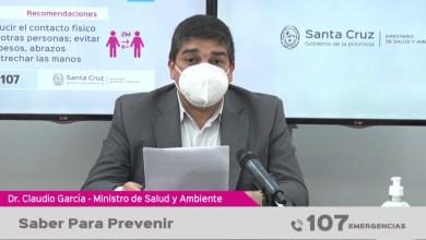 Photo of Redacción Noticias |  PARTE DE SALUD DE LA PROVINCIA DE SANTA CRUZ  «Saber para Prevenir»
