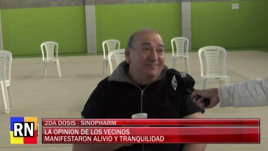 Photo of Redacción Noticias    Alivio y tranquilidad es lo que expresaron vecino de la ciudad al momento de la vacunacion