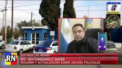 Photo of Redacción Noticias |  Comisario Davies – La actualizacion sobre Hechos Delictivos
