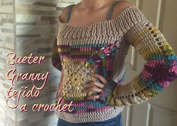 Suéter Para Mujer Tejido A Crochet Canal Crochet