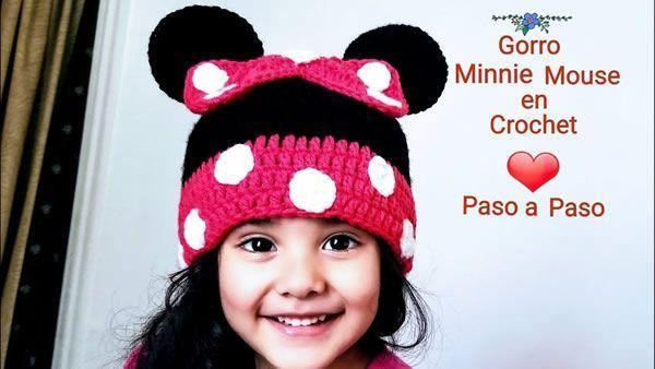 Gorro Minnie Mouse a Crochet